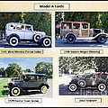 Model A Fords Collage  by Charles Robinson