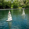 Model Boats On Conservatory Water Central Park by Amy Cicconi