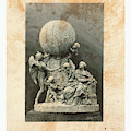 Model Of A Statue Dedicated To French Balloonists by English School