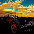 Model T Rat Rod Ride Cruisin Out At Sunset by Chas Sinklier