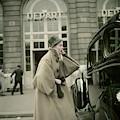 Model Wearing A Coat By Griffe by Henry Clarke