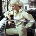 Model Wearing A White Kenzo Ensemble by Arnaud de Rosnay
