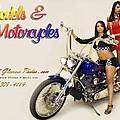 Models And Motorcycles by Walter Herrit
