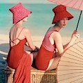 Models At A Beach by Louise Dahl-Wolfe