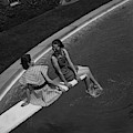 Models On A Diving Board by Toni Frissell