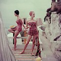 Models Wearing Bathing Suits In Palermo by Henry Clarke