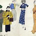 Models Wearing Schiaparelli by Pierre Mourgue