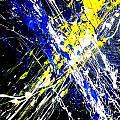 Modern Abstract Painting Original Canvas Art Atoms By Zee Clark by Zee Clark