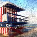 Modern-art Miami Beach Watchtower by Melanie Viola