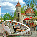 Modern Cycle Taxi In Old Town Tallinn-estonia by Ruth Hager