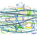 Modern Drawing Eighty-seven by Lynne Taetzsch