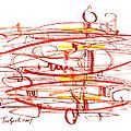Modern Drawing Seventy by Lynne Taetzsch