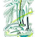 Modern Drawing Sixty-four by Lynne Taetzsch