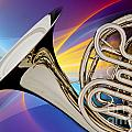 Modern French Horn Photograph In Color 3437.02 by M K Miller
