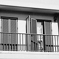 modern pvc sun shutter blinds on balcony doors and windows of house in tacoronte Tenerife Canary Islands Spain by Joe Fox