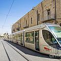 Modern Tram In Jerusalem Israel by Jacek Malipan
