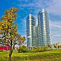 Modern Twin Tower In City Of Zagreb by Brch Photography