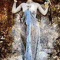Modern Vintage Lady In Blue by Georgiana Romanovna