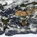 Modis World Map by Tilen Hrovatic