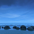 Moeraki Boulders Also Known As Te by Panoramic Images