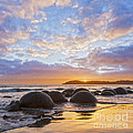 Moeraki Boulders Otago New Zealand Sunrise by Colin and Linda McKie