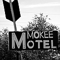 Mokee Motel Sign Circa 1950 by David Lee Thompson