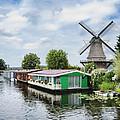 Molen Van Sloten And River by Phyllis Taylor