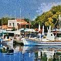 Molyvos Port by George Atsametakis