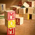Mom Alphabet Blocks by Edward Fielding