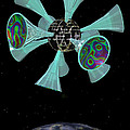 Momentary Sputnik 13  by Ann Stretton