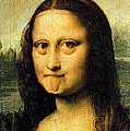 Mona Lisa Making Faces by Bruce Nutting