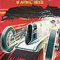 Monaco Grand Prix Vintage Poster by World Art Prints And Designs