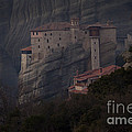 Monastary At Meteora  Greece   #9635 by J L Woody Wooden