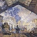 Monet, Claude 1840-1926. The Gare St by Everett