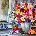 Monet Floral Edged by Catherine Lott