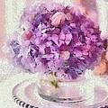 Monet Purple Pedestal by Catherine Lott