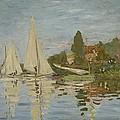 Monet Regattas At Argenteuil 1872 by Movie Poster Prints