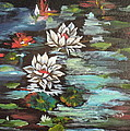 Monet's Pond With Lotus 1 by Jenny Lee