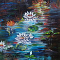 Monet's Pond With Lotus 11 by Jenny Lee