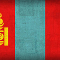 Mongolia Flag Vintage Distressed Finish by Design Turnpike