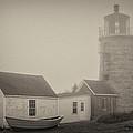 Monhegan Island Light by Pat Lucas