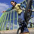 Monika Hinz Riding Bmx Flatland by Matthias Hauser