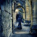 Monk In A Dark Corridor by Jill Battaglia