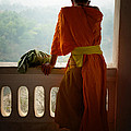 Monk In Luang Prabang by Thierry CHRIN