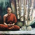 Monk In Meditation by Yokami Arts