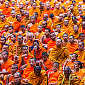 Monk Mass Alms Giving by Fototrav Print