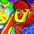 Monkey Pop Art by Julia Fine Art And Photography