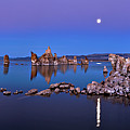 Mono Lake Moon Rise by Hua Zhu