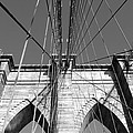Monochromatic View Of Brooklyn Bridge by Jaroslav Frank