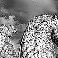 Monochrome Kelpies by Ross G Strachan